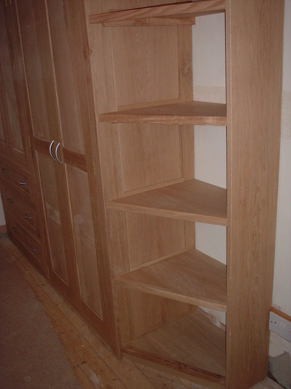 Fitted Oak Wardrobe With Integrated Shelving Gallery